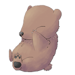 Free animated Sleepy bear page/journal doll by leensor