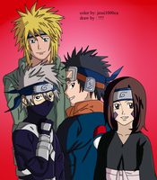 kakashi obito minato and rin by jessi1000ca