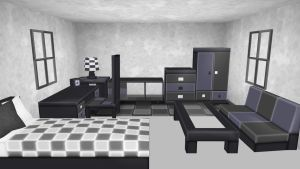 MMD Dark room Download by 9844