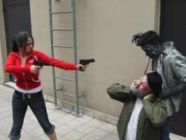 L4D Zoey Bill and the smoker by k-MorrigaN