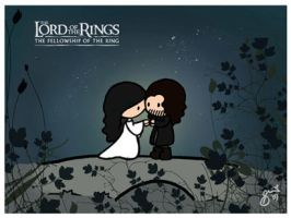 Aragorn and Arwen by cippow25