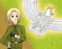 APH: The Eagle by Serah by FarronSisters