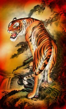 asian tiger by tempoyaker