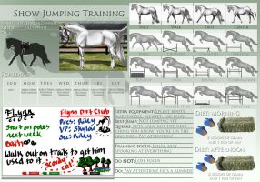 Show Jumping Training Template Example by Decorum100