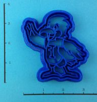 Custom Cookie Cutter - School Mascot by WarpzonePrints