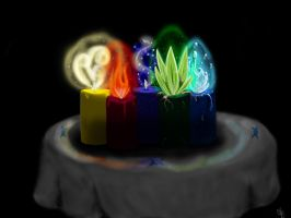 Candles of Elements (House of Night Fan Art) by Jackolantern104