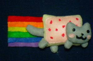 Nyan Cat Plushie by CheesyHipster