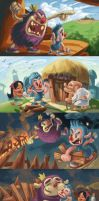 Story flow of Billy the Builder by Riverlimzhichuan