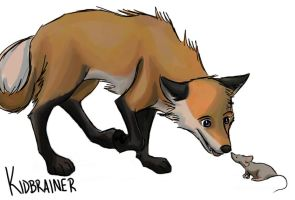 Fox and Mouse by kidbrainer