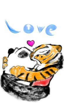 Tigress and Po kiss by poxtigress568