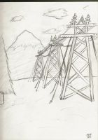 Electrical towers sketches by TheInfamousJoeLinder