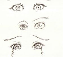 Eyes Practice Sketch 1 by FadedBlackangel