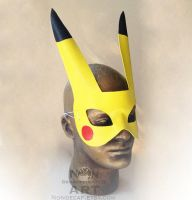Electric Mouse - handmade leather mask by nondecaf