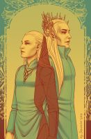 Palette 17 - Legolas and Tranduil by Soumin