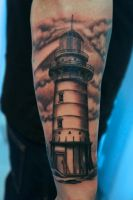 lighthouse tattoo by graynd