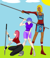 3 bad ass girls by kisshugirl