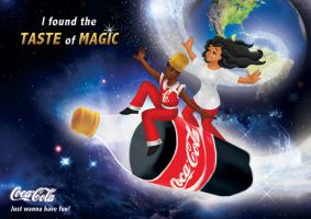 Coca Cola - Into Space by Paola-Tosca