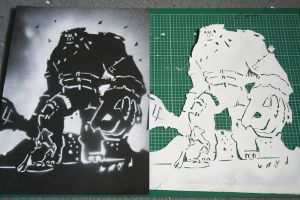 Colossus Stencil by WhaleTea
