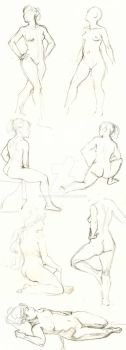 Life Drawing 005 by OddKitty
