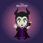 Disney Maleficent cartoon illustration art fanart by chamelledesigns
