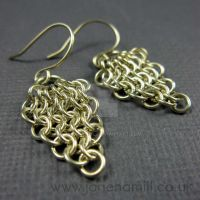 Cluster chain mail earrings by janehamill