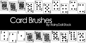 Card Brushes by RainyDoll-Stock
