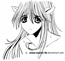 Lucy - Elfen Lied - Inking 3 by anime-master-96