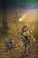 ",,Planet of the apes robots"" by KaloqnStoqnov"