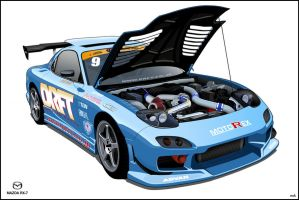Mazda RX-7 DRFT by noxels