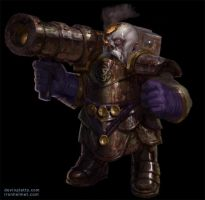 bazooka dwarf undead by texahol