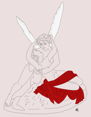 Eros and Psyche colored