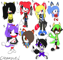Sonic Character Clearout by Sky-Yoshi