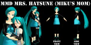 MMD Mrs Hatsune -Mikus Mom- DL by SachiShirakawa