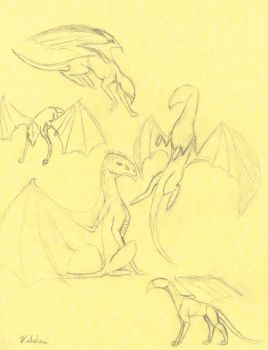 Small Dragon Sketch Dump by Arokis666