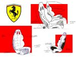 Ferrari F250 Interior Sketches by manolodesign