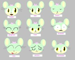 The many moods of Sage by sagethemouse