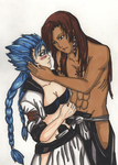 Commission: RianXGrimmjow 63 for dragonofthesand by StrawberryLoveAlways