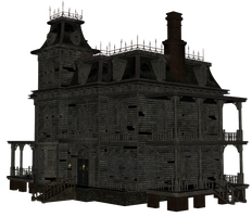 ababdoned PNG house by Ecathe