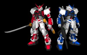 Gundam Astray Blue and Red Fra by PhillGonzo