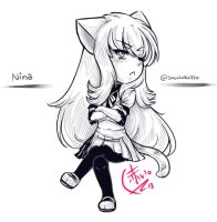 Nina is a TSUNDERE xD by MariiDRAW