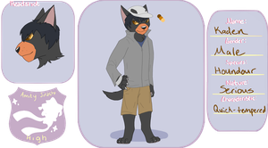 [AJ-H] Kaden - Houndour - Student by Warrior-Heart127
