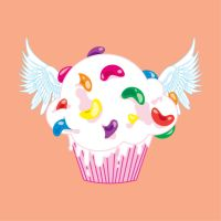 Flying Jellybean Cupcake by raura