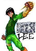 ROCK LEE Hand Colored by Dreekzilla