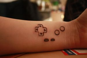 geeky tattoo, FINALLY by Izzilar