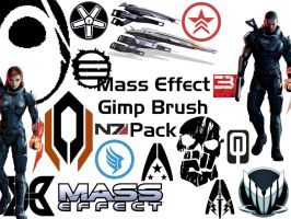 Mass Effect Gimp Brush Pack by NamiraWilhelm