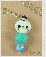 Clay Flurry Parakeet by LolleBijoux