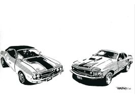 Muscle Cars by auschwito