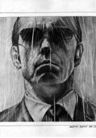 Agent Smith standing in rain by DomusArt