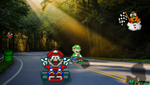 The Brothers Race- Super Mario Kart by Nexal720