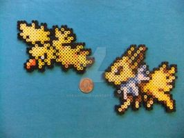 Zapdos and Jolteon Perlers by Soranoo
